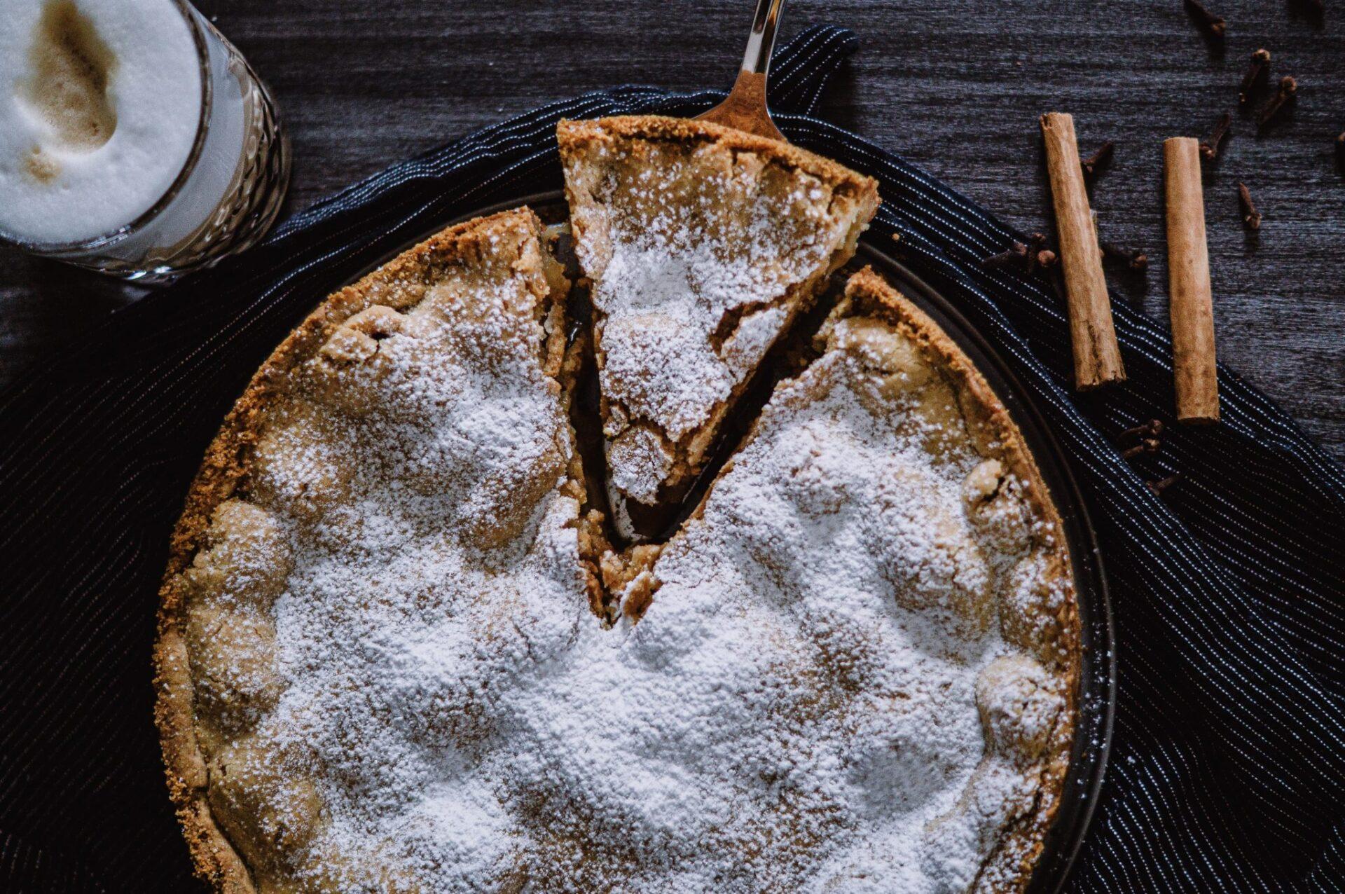 Rezept für einen gedeckten Apfelkuchen #Rezept #Apfel # Kuchen #Apfelkuchen